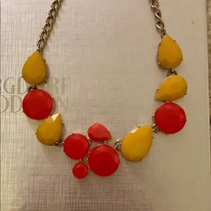 Jcrew Factory Statement Necklace pink yellow